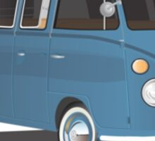 VW Bus T2 Transporter Blue  Sticker
