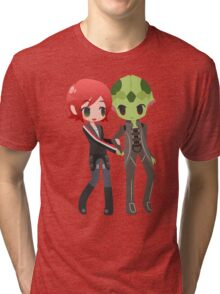 Mass Effect - Shepard and Thane [Commission] Tri-blend T-Shirt