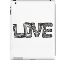 Love Black & White Drawing iPad Case/Skin
