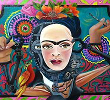 The Mechanism of Frida Kahlo by THE RED CALACA STUDIO