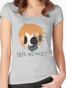 """Robaschi """"Deal With It"""" Women's Fitted Scoop T-Shirt"""