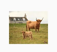 Highland cow and calf Scotland Womens Fitted T-Shirt