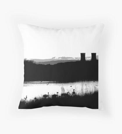 Swans 2 Throw Pillow