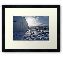 kirk in ice Framed Print