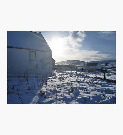 kirk in ice Photographic Print