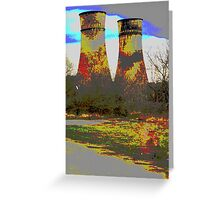 Tinsley Cooling Towers Warhol style Greeting Card