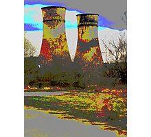 Tinsley Cooling Towers Warhol style Photographic Print