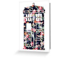 Floral Tardis Greeting Card
