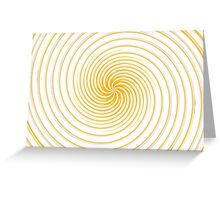 Collection Yellow Swirl  Greeting Card