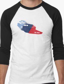 E36 Grungy M stripe overlay Men's Baseball ¾ T-Shirt