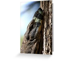 Monitor Lizard Greeting Card