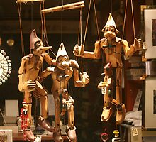 Marionettes At Night by phil decocco
