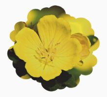 Yellow Primrose Flowers Kids Tee