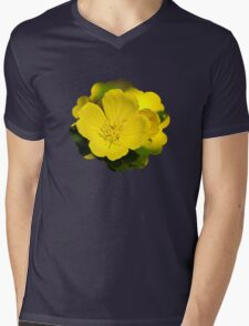 Yellow Primrose Flowers Mens V-Neck T-Shirt