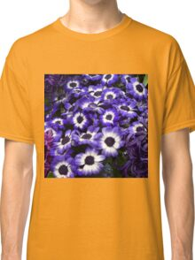 Purple + White African Daisies Classic T-Shirt
