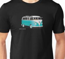 VW Bus T2 Teal White Unisex T-Shirt