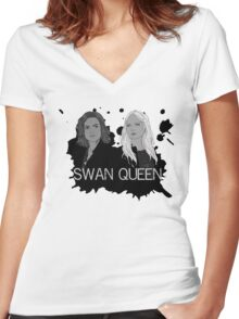 Regina and Emma - Swan Queen Women's Fitted V-Neck T-Shirt