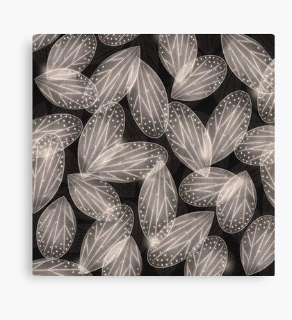 Fallen Fairy Wings - Silver Screen Edition Canvas Print