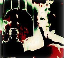 Really odd art, flipped photo, ink splat by ackelly4