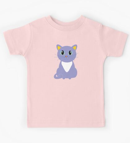 Only Lonely and Blue Cat Kids Tee