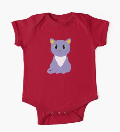 Only Lonely and Blue Cat One Piece - Short Sleeve