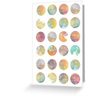 Colored World Greeting Card