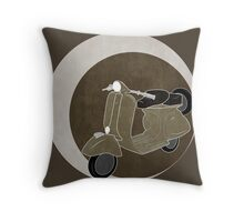 Cappuccino Vespa Throw Pillow