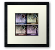 under the tree (collage) Framed Print