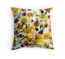 Chomomile Flowers and Things Throw Pillow