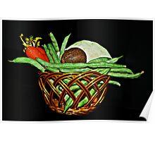 Vegetable Basket. Poster