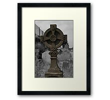 Celtic Cross at Bangor Abbey Framed Print