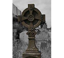 Celtic Cross at Bangor Abbey Photographic Print