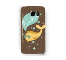 Funny aviator sunglasses heh bubble fish  Samsung Galaxy Case/Skin