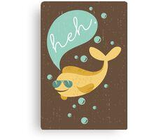 Funny aviator sunglasses heh bubble fish  Canvas Print