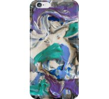 Abstract Aqua, Lavender, Gray and White Design, Contemporary Art iPhone Case/Skin