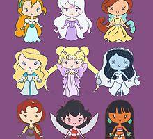 Lil' CutiEs - Alternate Princesses Group One by Ellador