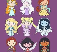 Lil' CutiEs - Alternate Princesses Group One by Ellador