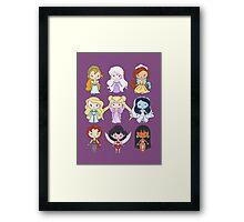 Lil' CutiEs - Alternate Princesses Group One Framed Print