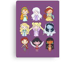 Lil' CutiEs - Alternate Princesses Group One Canvas Print