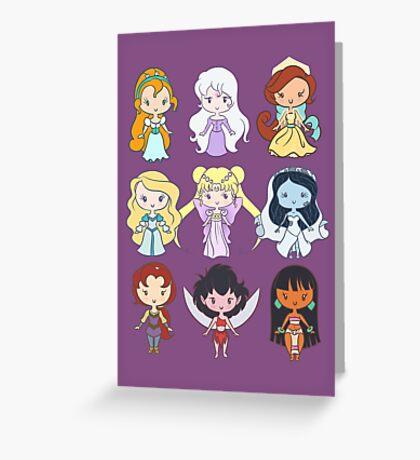 Lil' CutiEs - Alternate Princesses Group One Greeting Card