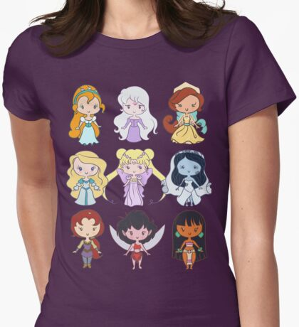 Lil' CutiEs - Alternate Princesses Group One Womens Fitted T-Shirt