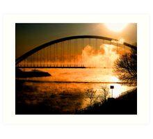 Sunset;over the bridge... Art Print