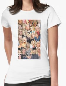 Amy Poehler Collage Womens Fitted T-Shirt