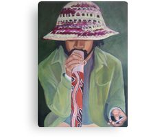 didge player on swanston Canvas Print