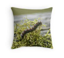 Blue Caterpillar Throw Pillow