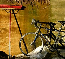 Broom & Bike On Ice by Alvin-San Whaley