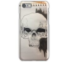 Skull Drawing on paper iPhone Case/Skin