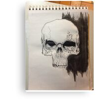 Skull Drawing on paper Canvas Print