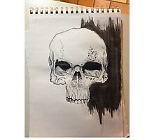 Skull Drawing on paper Photographic Print
