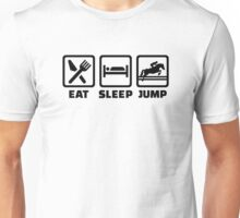 Eat sleep jump show jumping Unisex T-Shirt
